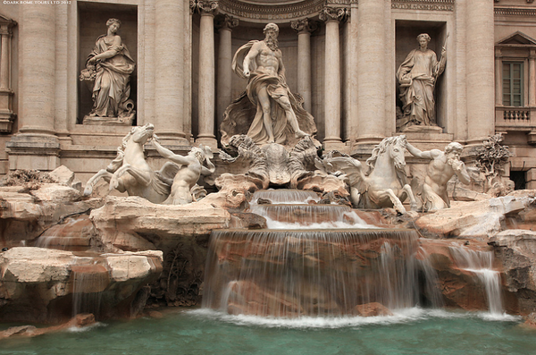 Toss A Coin In Trevi Fountain