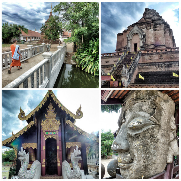 Temples Monks In Chiang Mai