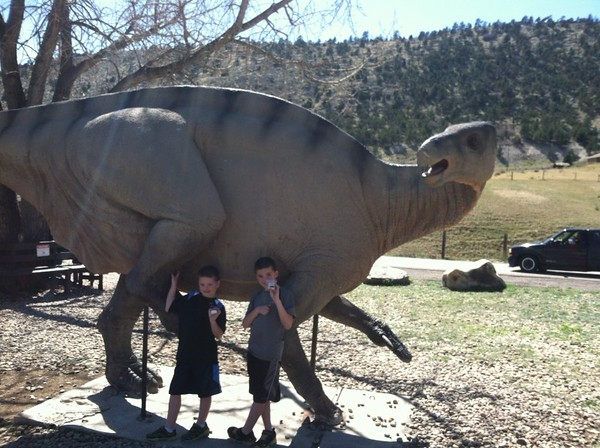 Denver with kids at Dinosaur Ridge