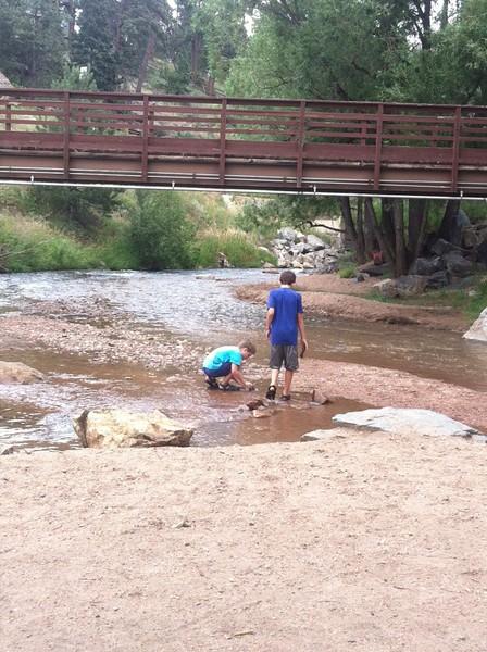 River Feeding Evergreen Lake Colorado