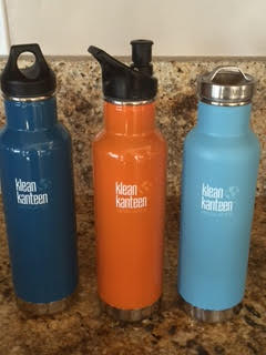 Different Caps KLEAN KANTEEN Water Bottle