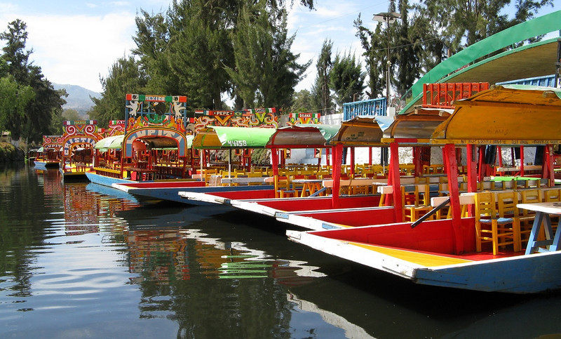 "floating gardens"" of Xochimilco"