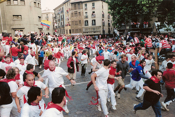 Pamplona Running with the Bulls