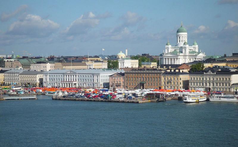 Kauppatori Market Square in Helsinki Finland