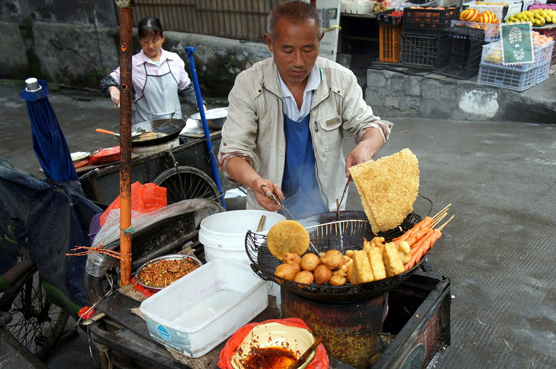 Street vendors in china