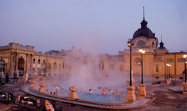 Winter In Europe Warm Relaxing Bath in Budapest Hungary