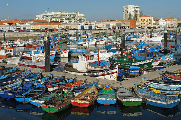 Lisbon Harbor Algarve Region Of Portugal
